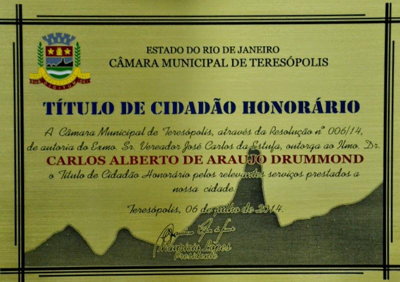 Câmara Municipal de Teresópolis entrega homenagem ao presidente do TRT 1ª Região