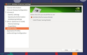 Nvidia Optimus in Ubuntu 14.04 Trusty - NVIDIA X Server Settings