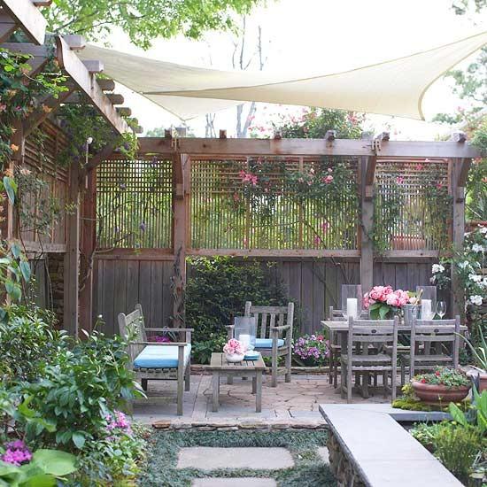Querido ref gio blog de decora o ideias para muros de for Better homes and gardens courtyard ideas