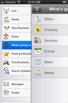 oGoing Business Social Networking iPhone App - Share what's going on
