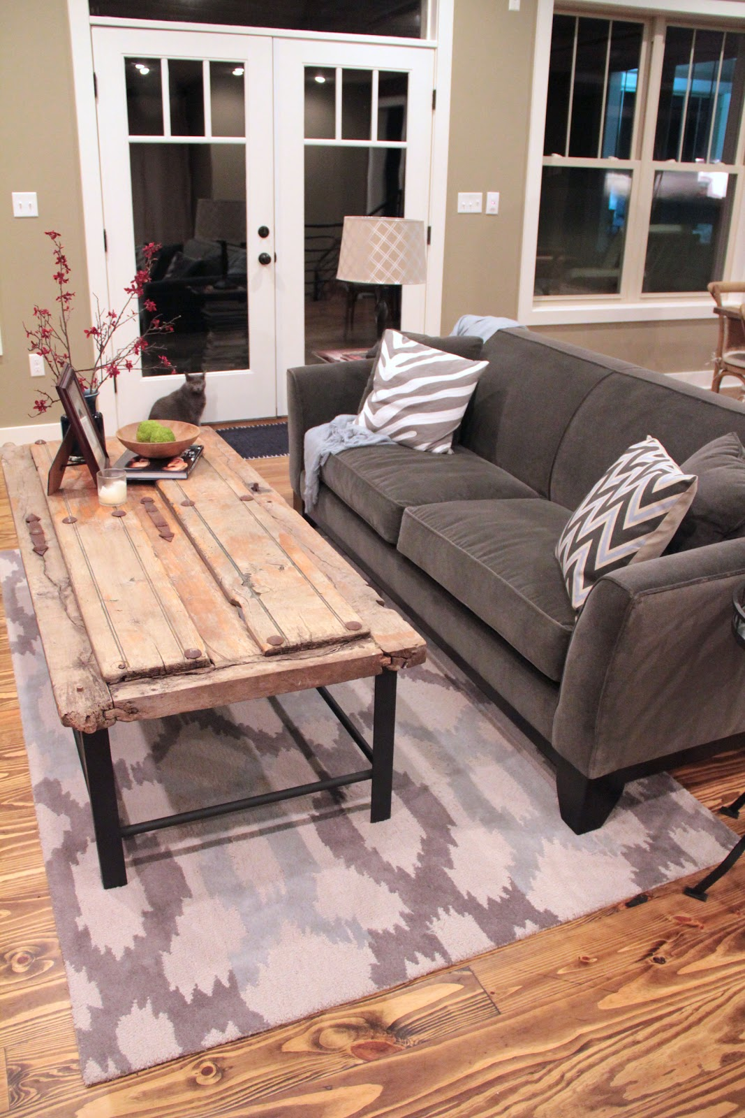 the house at coppercreek: barn door coffee table