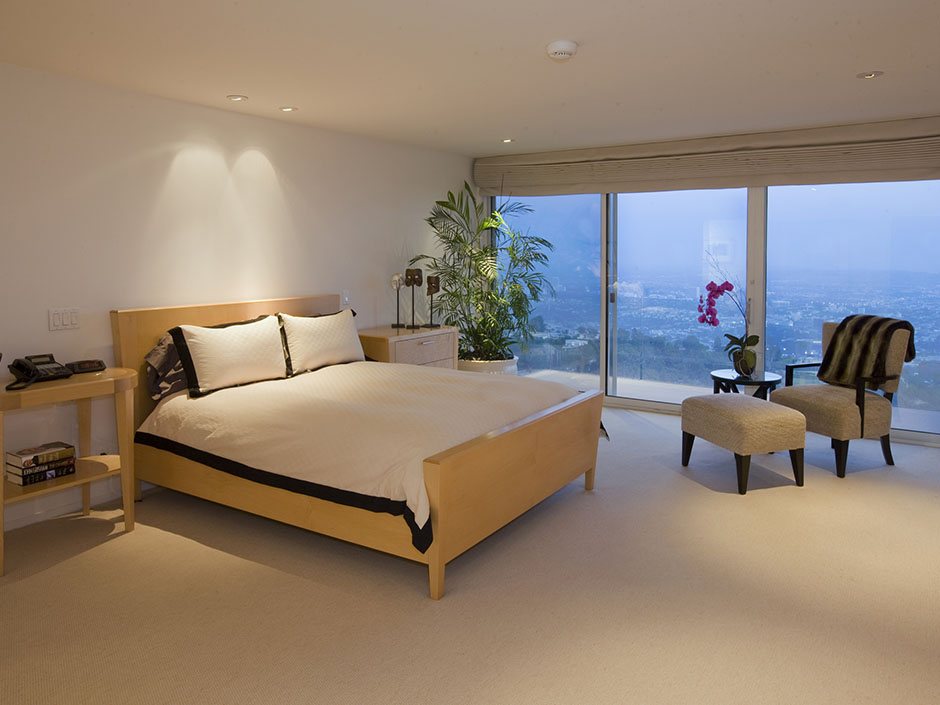 modern multi million mansion bedroom sunset strip california