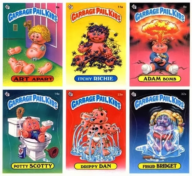 The joy of collecting Garbage Pail Kids and putting the stickers on your bedroom wall