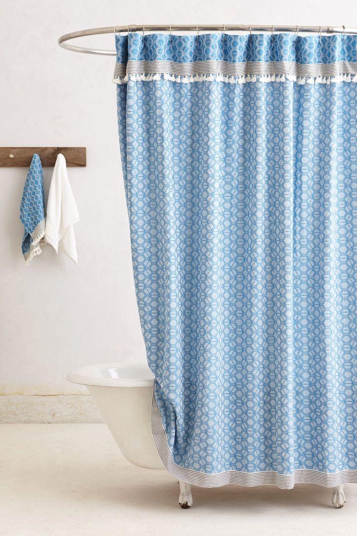 Anthropologie floral shower curtain - Tassled Dayton Shower Curtain From Anthropologie