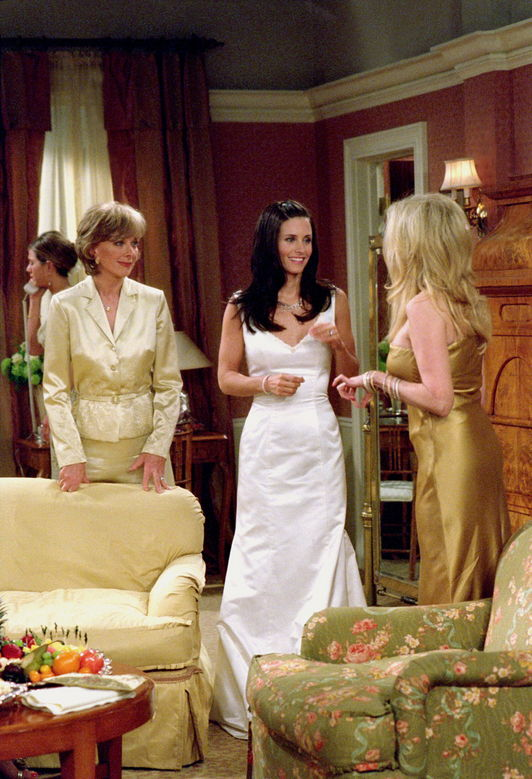 whimsybride look a likes for less monica gellar With monica wedding dress