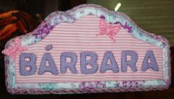 Placa de maternidade Bárbara