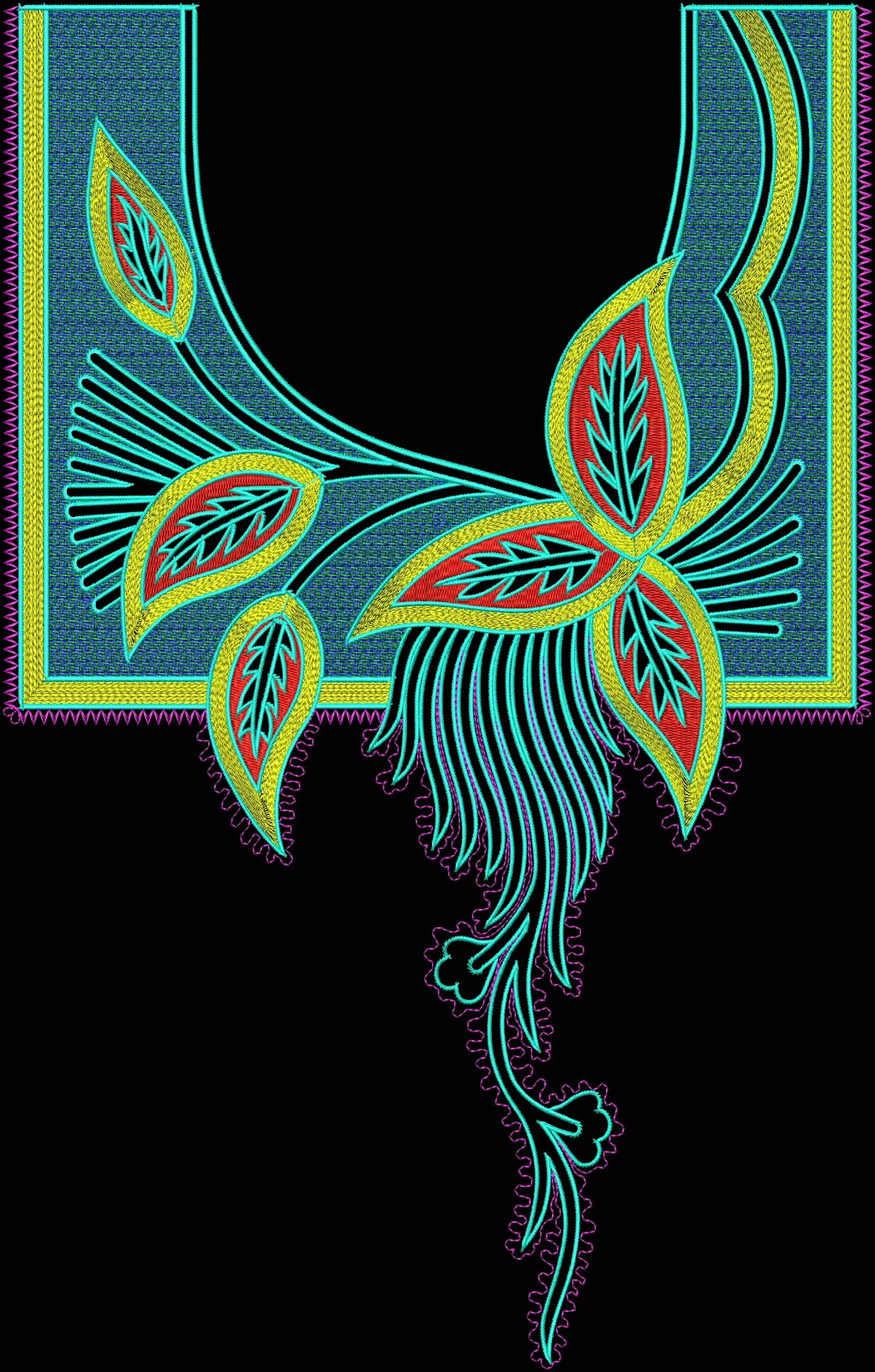 Sherry S Embroidery Digitizing Arebian Neck Embroidery Design Free