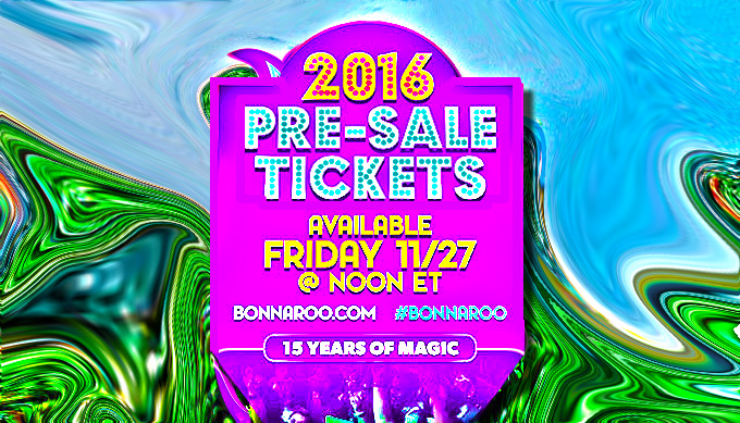 Bonnaroo 2016 Pre-Sale Begins Friday 11/27