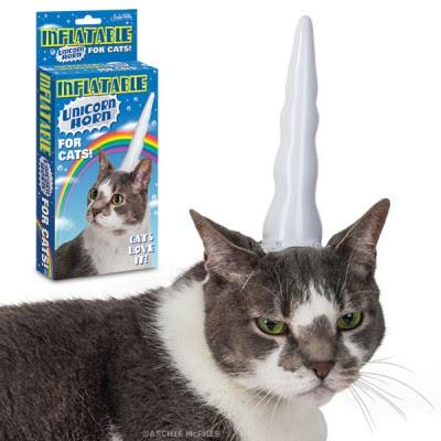 Tanduk Unicorn untuk kucing