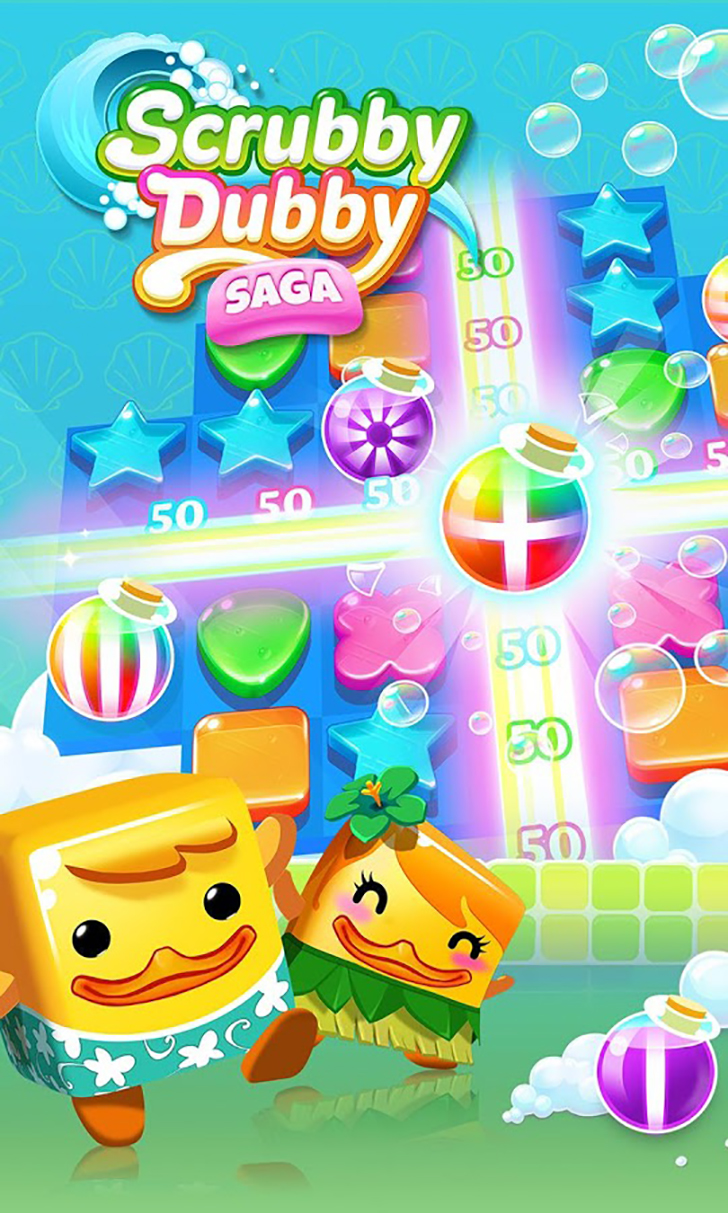 Scrubby Dubby Saga Free App Game By King.com Limited