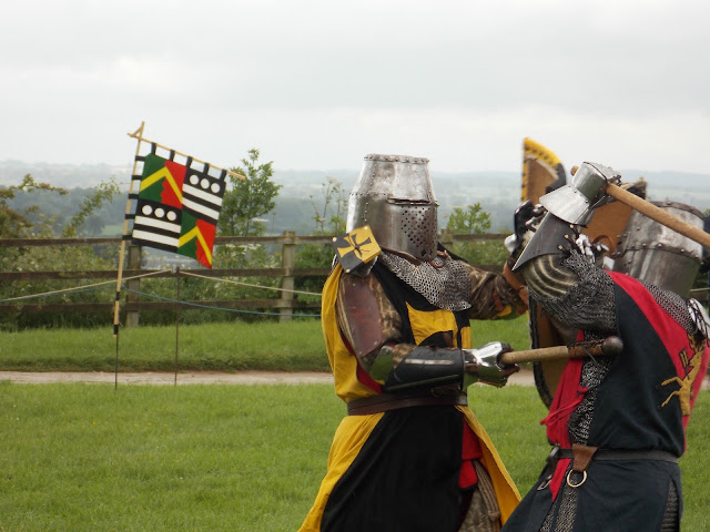 knights in armour at tutbury castle