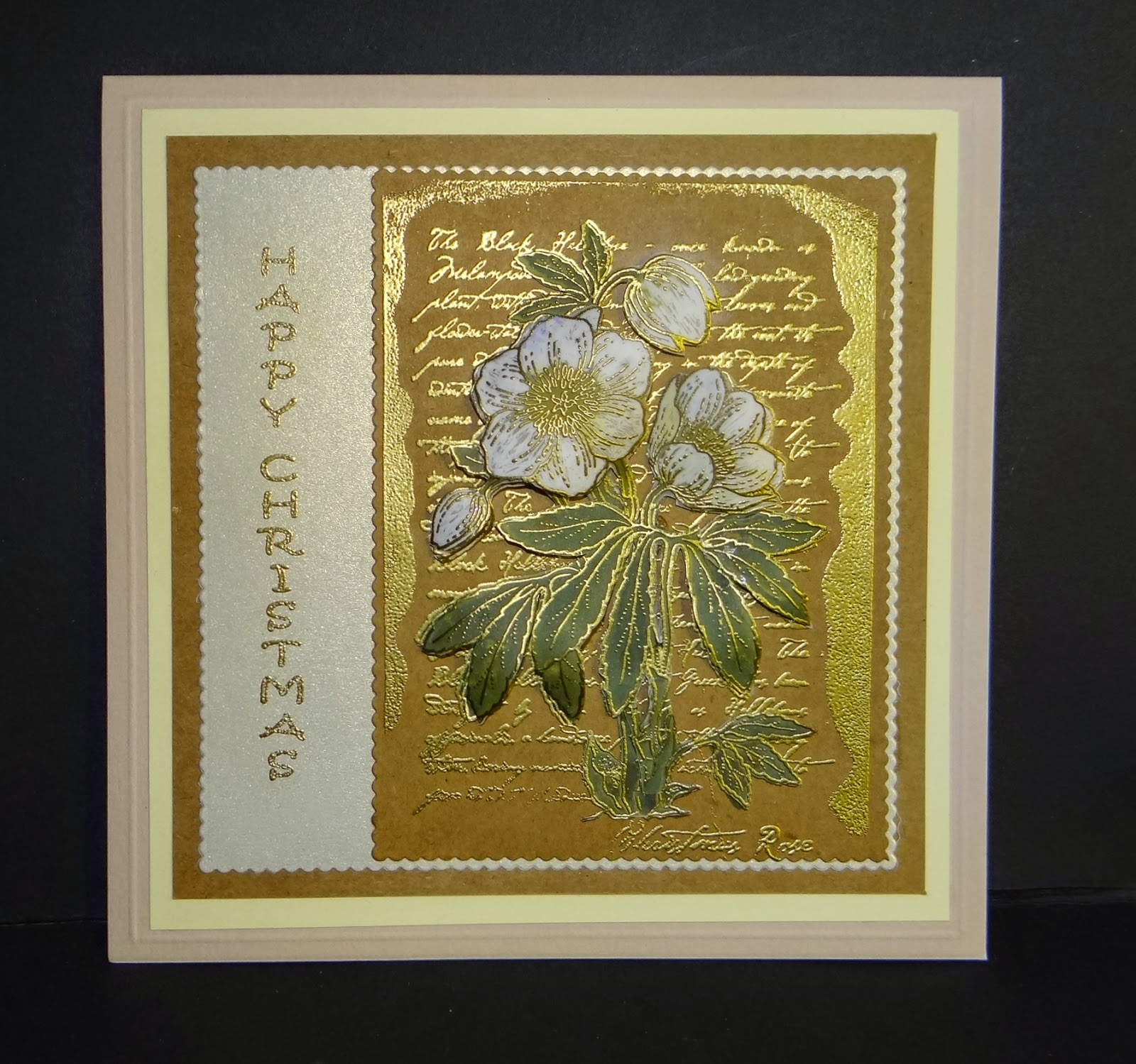 BJCrafty: Chocolate Baroque Christmas Rose Script Stamp