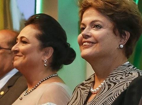 Kátia Abreu e Dilma Rousseff.