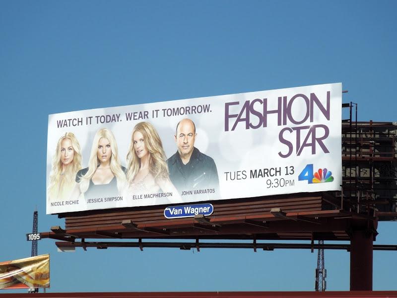 Fashion Star season 1 billboard