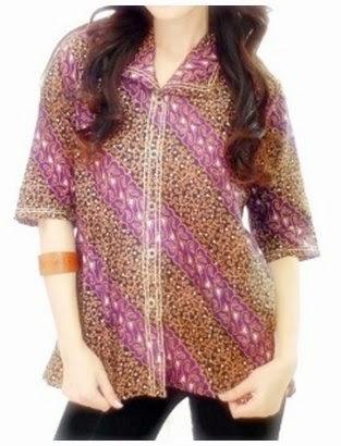 Model Baju Hamil Batik Kantor
