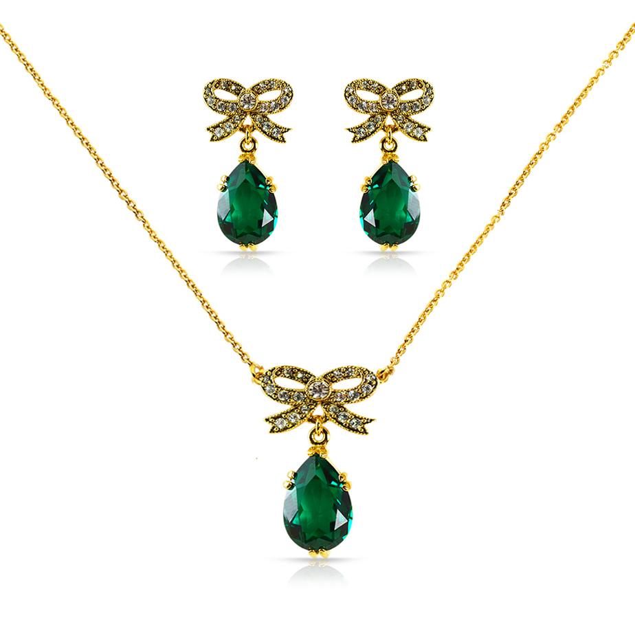 Green with Envy - Cristalina Dowton Emerald Swarovski Heart & Bow ...