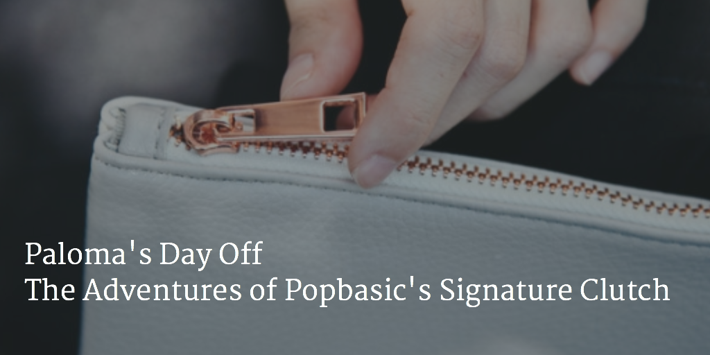 Paloma's Day Off The Adventures of Popbasic's Signature Clutch - Hello, Handbag