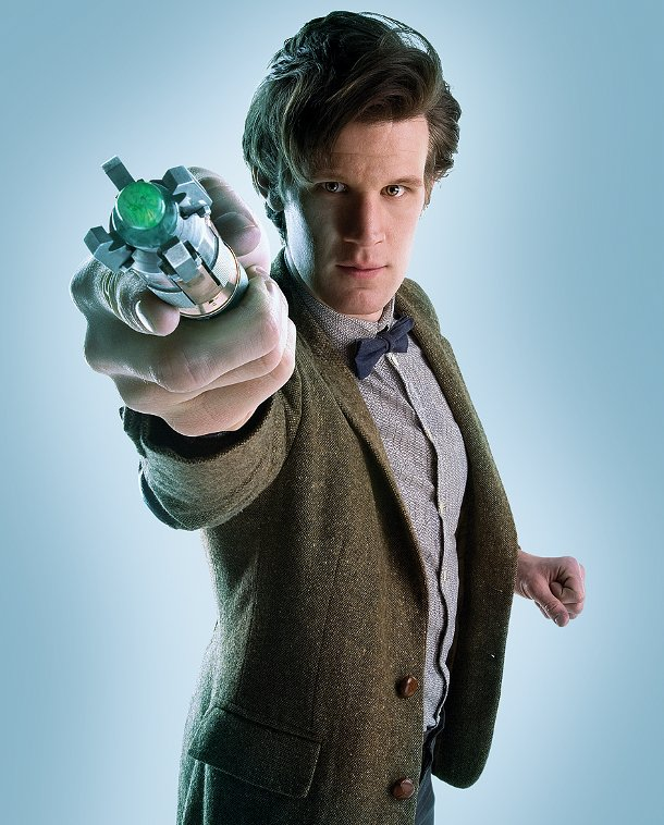 Doctor Who.  Matt-smith-as-doctor-who-with-the-sonic-screwdriver