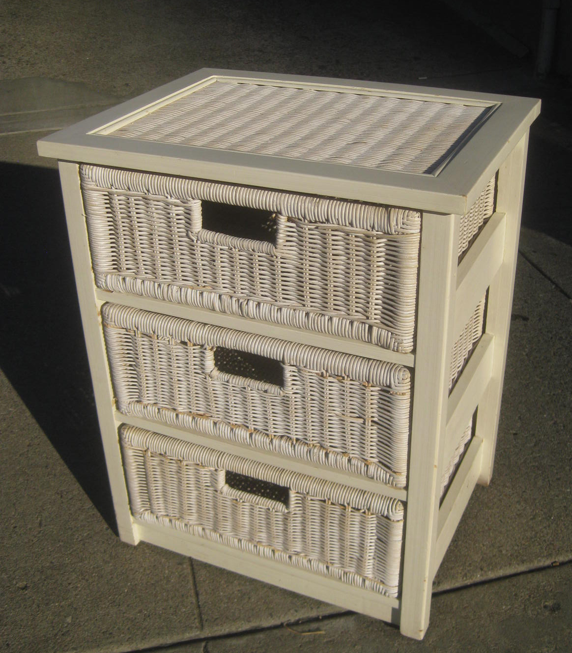 UHURU FURNITURE & COLLECTIBLES: SOLD - Small Basket Cabinet - $45