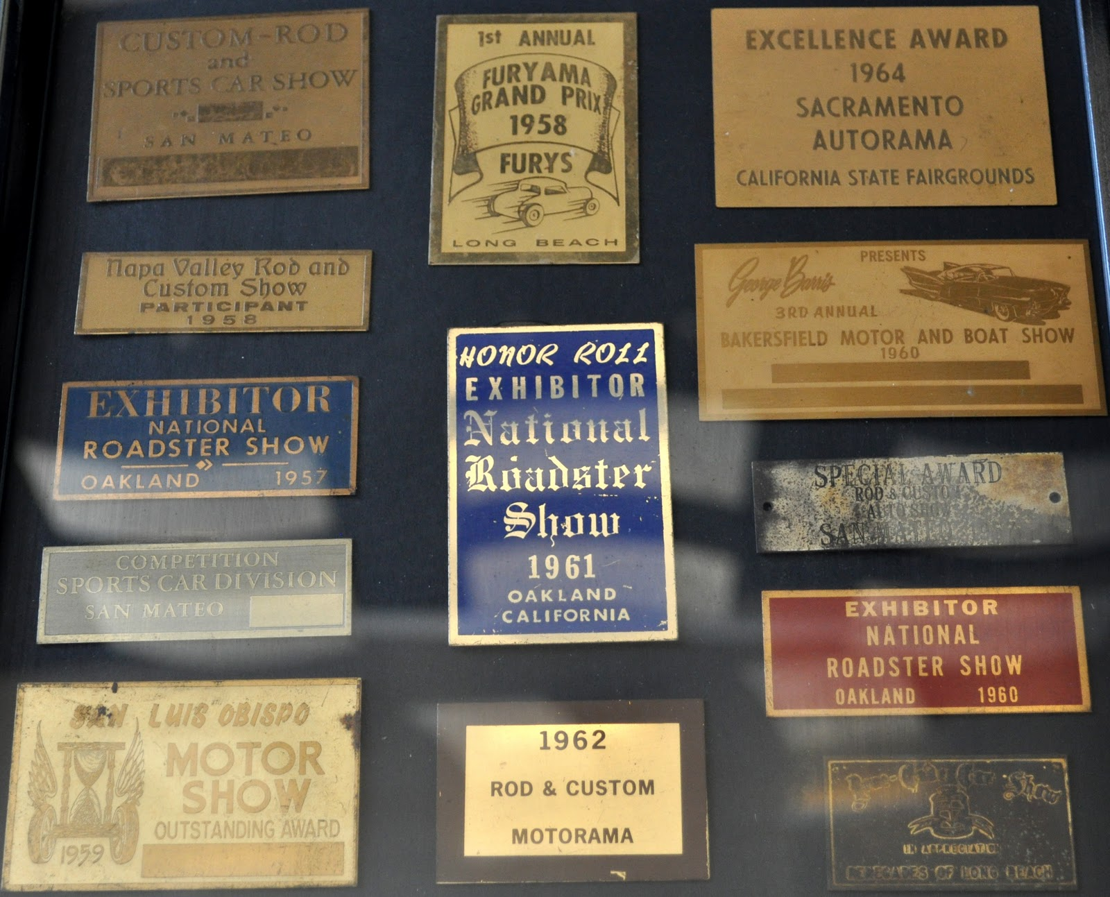 Just A Car Guy Vintage Dash Plaques From The S And S - Car show dash plaque display