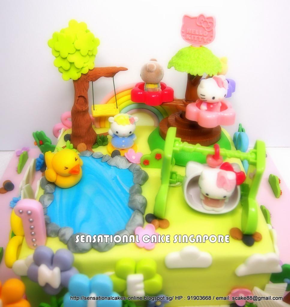 The Sensational Cakes Hello Kitty Playground Theme Cake Singapore
