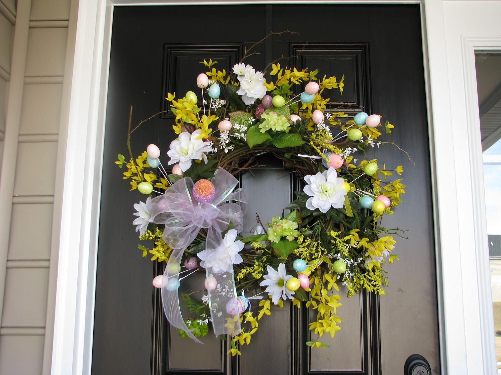 Designs by pinky a new spring wreath and tutorial for 3 wreath door decoration