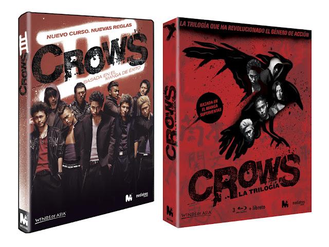 A la venta 'Crows 3' en DVD y 'Crows. La trilogía' en DVD y Blu-ray