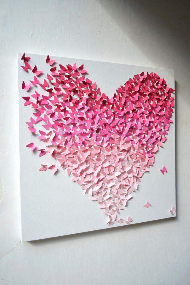 Quadro borboletas papel
