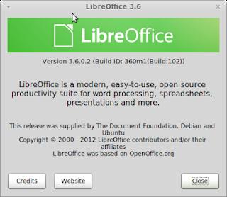 menginstall LibreOffice 3.6 di Ubuntu 12.04/Ubuntu 11.10/Linux Mint 13