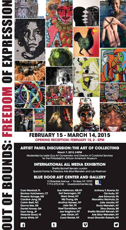 Internacional OUT of Bounds Freedom of Expredom of Expression Exhibition . CURADORIA SHELITA BIRCHE
