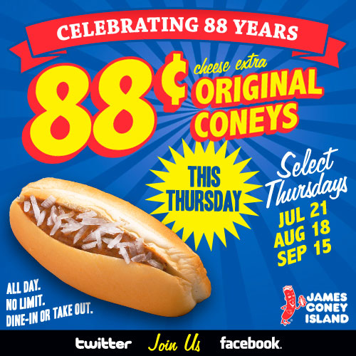 James Coney Island  Cent Thursday