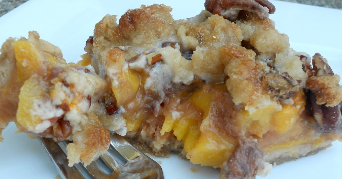Ally's Sweet and Savory Eats: Caramel Pecan Peach Crumble Bars