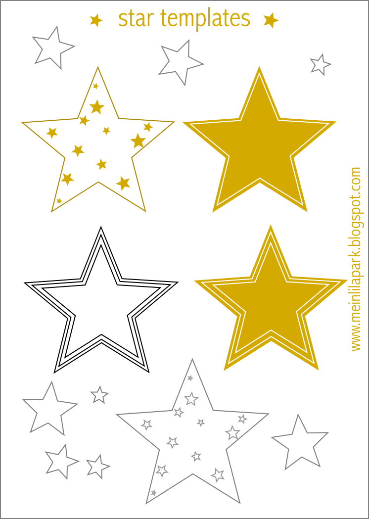 Transformative image with stars printable template