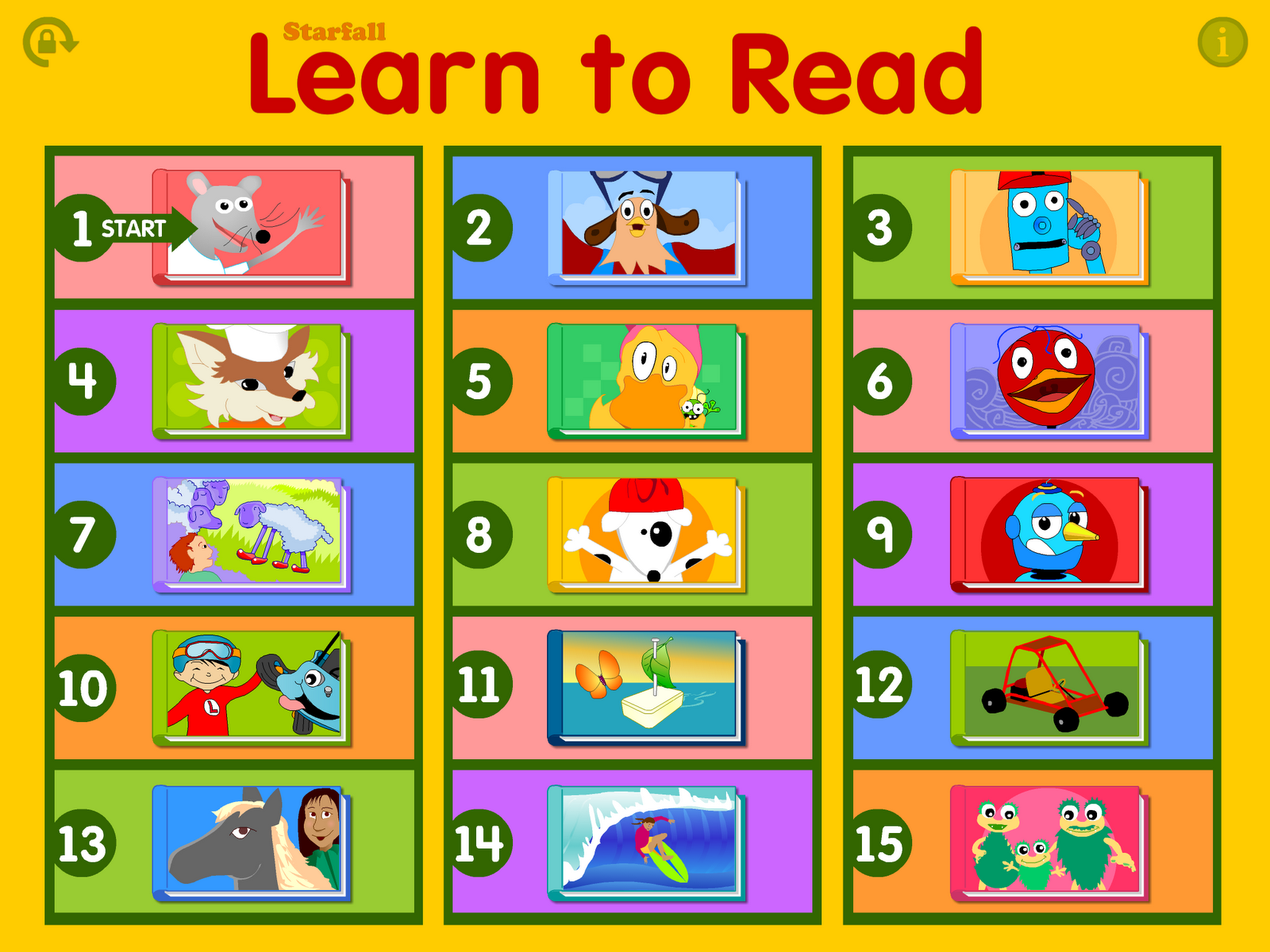 Kids Games, Movies, & Books K-3 | Starfall Education