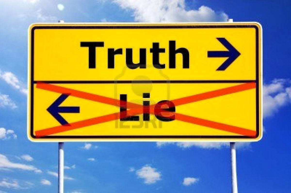 Debes entender que la verdad y la mentira no se mezcla