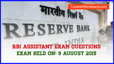 RBI Assistant Questions 2015