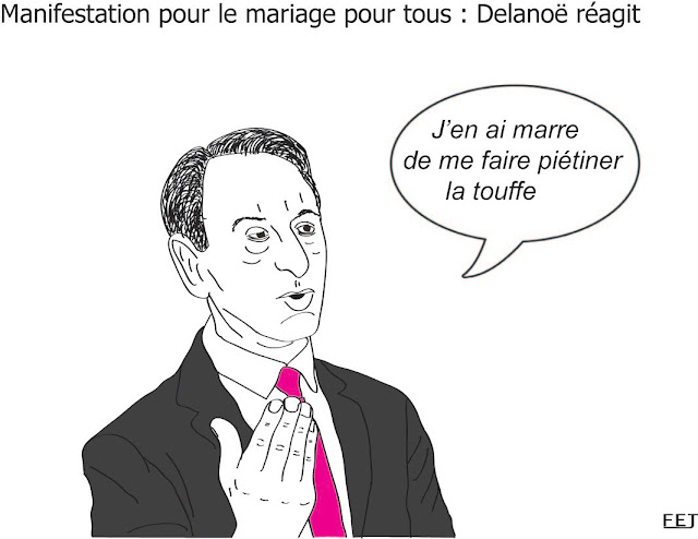 Position-de -delanoe-sur le -mariage-pour-tous-fej-dessin