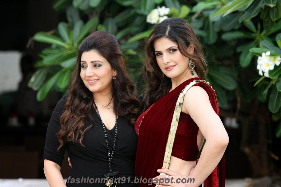 Zarine Khan in Marron Sarre