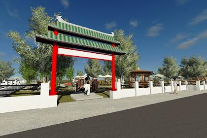 Jasa Desain Pintu Gerbang Pagar Cafe Taman