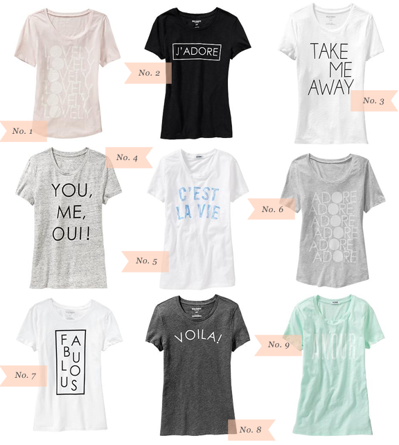 Über Chic for Cheap: Must Have: Old Navy Graphic Tees