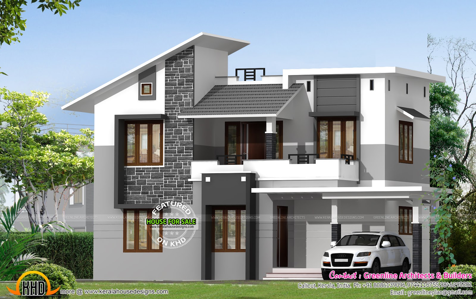 Villa for sale at calicut kerala kerala home design and for Indian home outer design