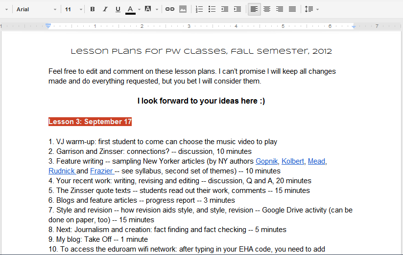 essay writing lesson plan