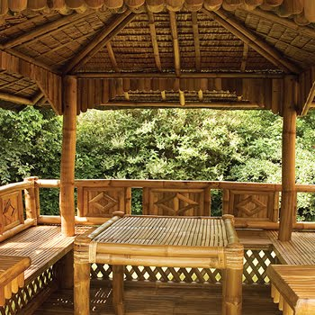 Trend home interior design 2011 bamboo gazebo exterior for Bamboo designs for interior designing