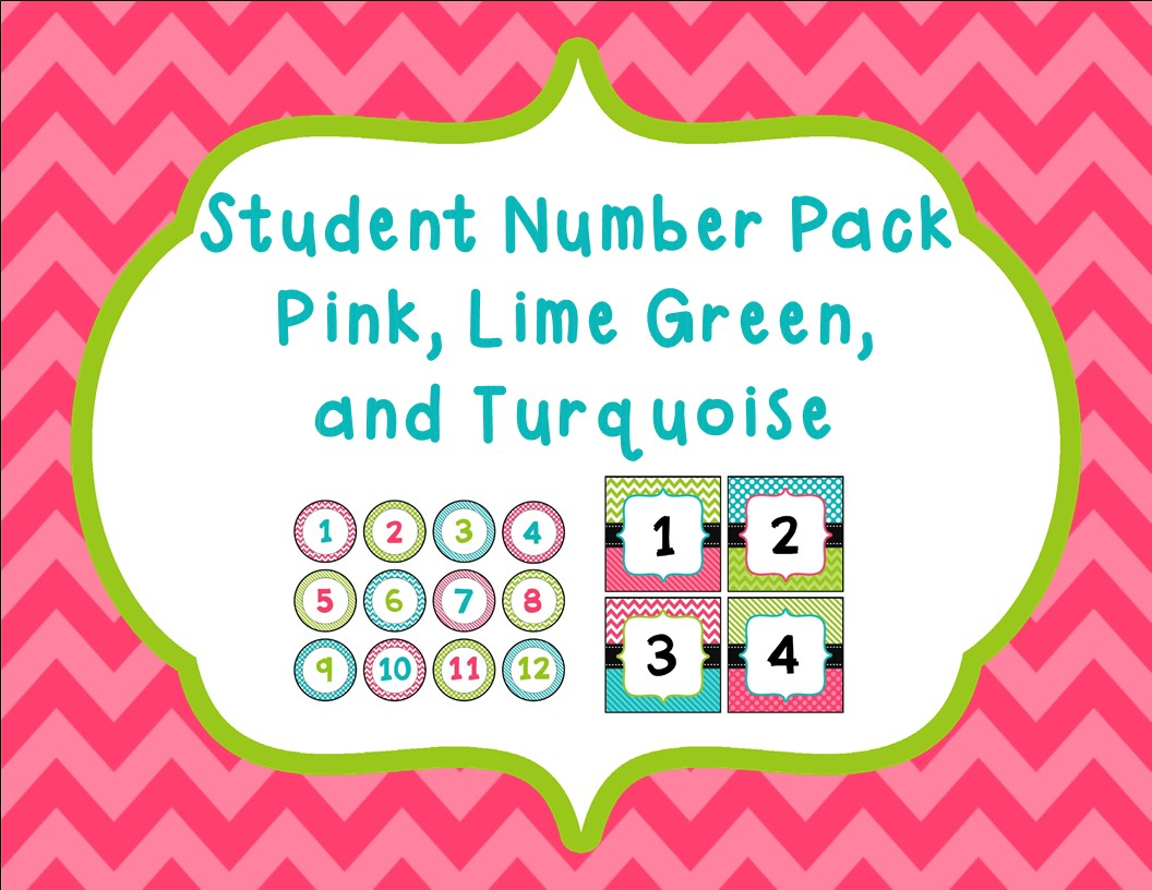 http://www.teacherspayteachers.com/Product/Student-Number-Pack-in-Pink-Lime-Green-and-Turquoise-1314338