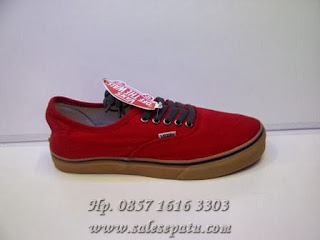 Sepatu Vans Authentic California merah murah