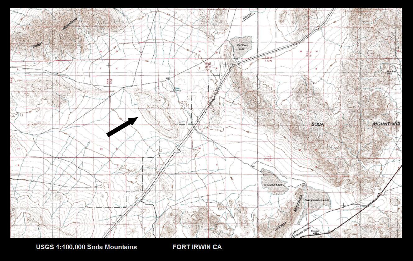 The Mathisen Corollary Ancient Volcanic Activity In The Mojave Desert - Us map mojave desert