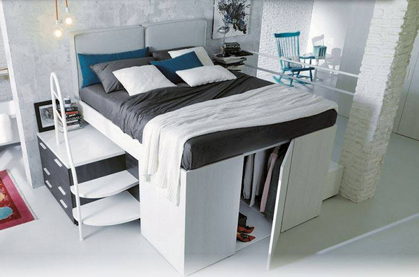 Arredamenti ballabio lissone container il letto con l for 5 piani di casa di camera da letto