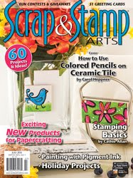 I've been published in July 2015 issue of Scrap & Stamp Arts