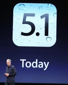 iOS 5.1 released March 16, 2012