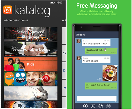DailyMe TV and LINE Messaging App